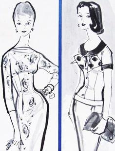 1956 McCalls 3458 sheath dress