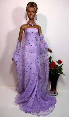 African-American Barbie doll.                                                                                                                                                                                 More