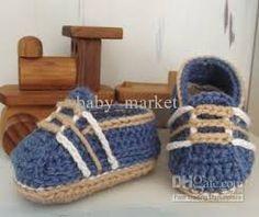 Resultado de imagen para baby boy crochet shoes free pattern