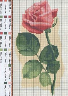 Flower Counted Cross Stitch Pattern Rose by Pierre by SimpleSmart Cross Stitch Boards, Cross Stitch Love, Cross Stitch Needles, Cross Stitch Flowers, Cross Stitch Designs, Cross Stitch Patterns, Cross Stitching, Cross Stitch Embroidery, Embroidery Patterns