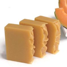 Cantaloupe Fruit Soap. These soaps made with fresh cantaloupe fruit, no color add, natural color came from cantaloupe fruit