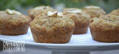 BANANA, APPLE & CINNAMON MUFFINS:  Do you have a lonely overripe banana in your fruit bowl?  It will be just perfect for these yummy fruit muffins.  Make a batch for the week ahead. #onehandedcooks