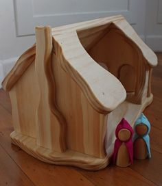 Woodworking For Kids Wooden Gnome House Woodworking Projects For Kids, Woodworking Toys, Wooden Crafts, Wooden Diy, Wooden Tree House, Gnome House, Kegel, Natural Toys, Wooden Dollhouse