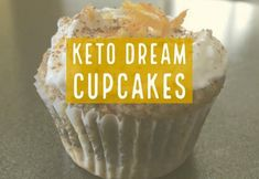 Keto Dream Cupcakes with Cream Cheese Frosting are so yummy and Keto approved as well as low carb!