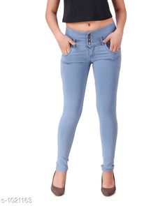 Jeans Trendy Denim Women's Jean  *Fabric* Denim  *Waist Size* 28 in, 30 in, 32 in, 34 in  *Length* Up To 40 in  *Type* Stitched  *Description* It Has 1 Piece Of Women's Jean  *Pattern* Solid  *Sizes Available* 28, 30, 32, 34, 36 *    Catalog Name: Aria Stylish Denim Women's Jeans Vol 1 CatalogID_123213 C79-SC1032 Code: 504-1021163-