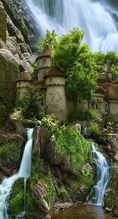 "1 - Castle on a waterfall, fake. ""This castle appears on many lists of ""places to see before you die"" . widespread as the ""castle waterfall in Poland,"" surely there to make a trip to Middle Earth to be viewed carefully . Places Around The World, The Places Youll Go, Places To See, Waterfall Castle Poland, Waterfall House, Beautiful Places To Visit, Beautiful World, Amazing Places, Beautiful Castles"