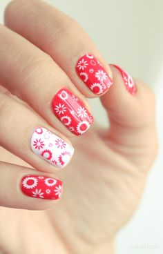 Macbeth by Butter London with white/red flower stamping