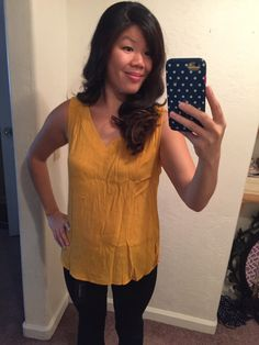 Coringa V Neck Top with Denise Bootcut Jeans. Maybe it would have looked better if I had ironed it first. Stitch Fix Blog, V Neck Tops, Box, Jeans, Women, Fashion, Moda, Snare Drum, Fashion Styles