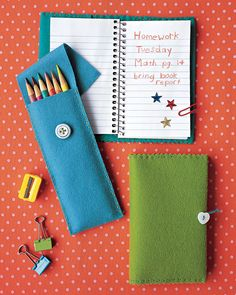 A good project for hand-sewing, these felt pencil cases are sturdy enough to last till school lets out in spring.