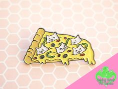 Hey, I found this really awesome Etsy listing at https://www.etsy.com/listing/269699476/pizza-cat-enamel-pin-pizza-pin-cute-cat