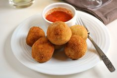 Quinoa Croquettes with Red Pepper Salsa