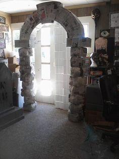 Halloween cardboard box/paper mache archway