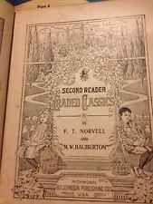 VERY ANTIQUE 2 Nd Grade Reader Copyright 1901