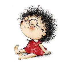 Los niños necesitan ser felices, no ser los mejores Art And Illustration, Character Illustration, Cartoon Drawings, Cute Drawings, Cute Girl Drawing, Whimsical Art, Doodle Art, Cute Cartoon, Art Sketches