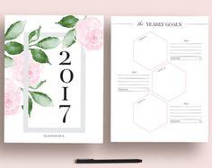 Inserts en 2017 Agenda imprimable 2017 2017 par EllagantInk sur Etsy