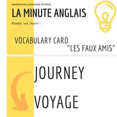 La minute anglais par Immersion Language School - Adeline Coché    Les Faux Amis Adeline, Language School, Chinese Language, Language Lessons