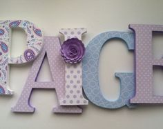 purple, gray and aqua nursery letters - Google Search