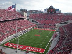 "Ohio Stadium Ohio State Buckeyes Canvas Wrap (20""x16""x1.5"")"