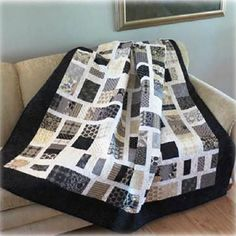 """This quilt is super easy to make and goes together fast because the blocks are16"""" X 16"""" finished. When the blocks are sewn together, they give a woven effect. Instructions include directions for use o"""