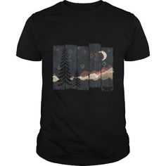 I Love Starry Night in the Mountains T shirts