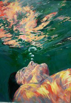 Lithia Springs Art Original Underwater Painting by scoutcuomo, $485.00