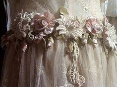 Antique tambour lace roses!!