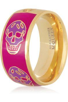Alexander McQueen - Enameled Skull Ring
