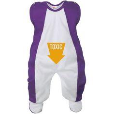 Grenouillère bébé drôle : TOXIC (7 coloris)