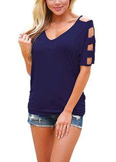 DREAGAL Girls Cold Shoulder Cut Out Sleeve Blouse Top T-s... https://smile.amazon.com/dp/B06ZZWC6PY/ref=cm_sw_r_pi_dp_x_kuHezbNCP6VVY