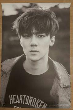"EXO ""EXODUS"" SEHUN Official Poster 2nd Album Tube Case Unfolded"