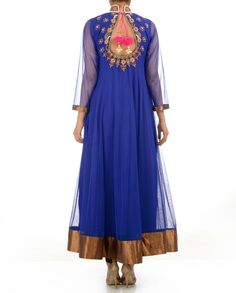Dazzling Blue Anarkali Suit with Heavily Embellished Top - Buy Monikaa's Aura Online | Exclusively.in