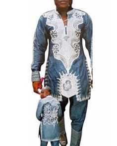 African Attire Linen Design LI078