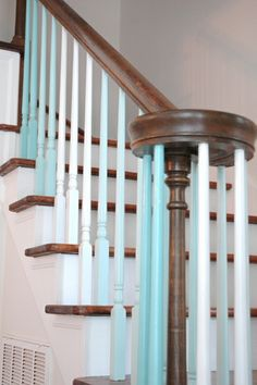 Love the spindles Stairway To Heaven, Stair Railing, Humble Abode, Stairways, Home Goods, Sweet Home, Shabby Chic, Traditional, Vacation