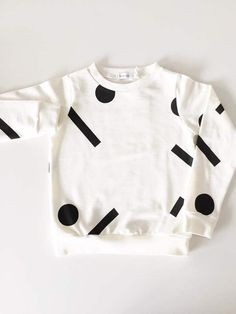 Oh my kids - Dots & lines off white sweater