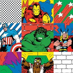 """East Urban Home 'Marvel Comics Retro Avengers' by Marvel Comics Graphic Art on Wrapped Canvas Size: 37"""" H x 37"""" W x 0.75"""" D"""