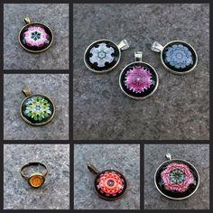 Cabochon Schmuck, Anhänger und Ringe mit Mandalamotiven - Kreatives by Petra #anhänger #pendant #fassungen #cabochon #schmuck #jewellery #mandala #modern #modeschmuck #costumjewelery #diy #ringe #rings #silber #bronze Petra, Cufflinks, Modern, Accessories, Fashion, Mandalas, Fashion Jewelry, Canvas, Ring