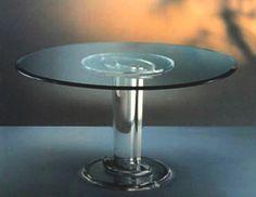 Dinner Table in plexiglass 'Stella' ste-022, diam 1400h750mm