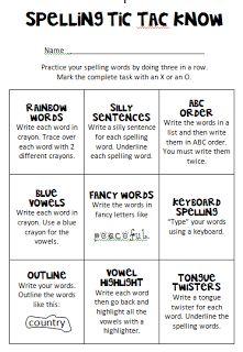Debbies Dabblings: Friday Freebie - Spelling Practice