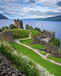 Castle on the Loch in Scotland.