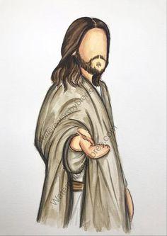 beautiful watercolor portraits of Jesus Christ Jesus Christ Painting, Jesus Art, Jesus Christ Drawing, Paintings Of Christ, Christian Drawings, Christian Art, Lds Art, Bible Art, Watercolor Pictures