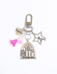 A personal favourite from my Etsy shop https://www.etsy.com/uk/listing/470640117/keyring-fairy-door-bag-charm-lucky-fairy