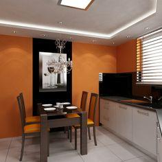 Kitchen design. Modern interior, classic style.