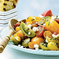 Heirloom Tomato Salad with Herbs and Capers-Cooking Light