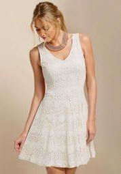 c35d449461c Love this neutral knee-length dress Cremieux Sahara Eyelet Dress ...