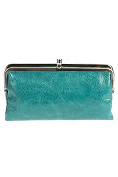 Hobo Womens Genuine Leather Vintage Lauren Clutch Wallet Teal Green ** To view further for this item, visit the image link.