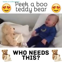 Best 12 👶👶 Babies are loving this Teddy Peek-a-boo Bear 😍 Perfect Gift for your little ones 🎁 The Babys, Peek A Boos, Funny Babies, Cute Babies, Talking Teddy Bear, Bebe Video, Baby Shower Gifts, Baby Gifts, Cute Baby Videos