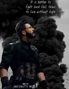 """""""It is better to fight and fall than to live without hope. Captain Rogers, Movies And Series, Chris Evans Captain America, Marvel Avengers, Marvel Heroes, Avengers Infinity War, Bucky Barnes, Steve Rogers, Marvel Movies"""