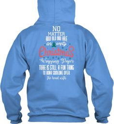 Christmas Fashioin Carolina Blue T-Shirt Back