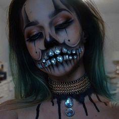 Rhinestone Skeleton Makeup and Costume Idea for Halloween - https://www.luxury.guugles.com/rhinestone-skeleton-makeup-and-costume-idea-for-halloween/