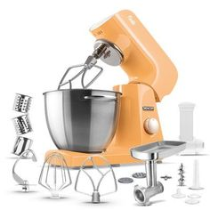 475 Qt 8Speed Stand Mixer Color Pastel Orange >>> You can find more details by visiting the image link.  This link participates in Amazon Service LLC Associates Program, a program designed to let participant earn advertising fees by advertising and linking to Amazon.com.